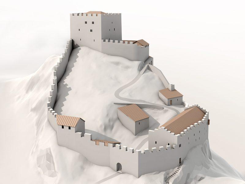 Rekonstruktion Burg Wartenstein