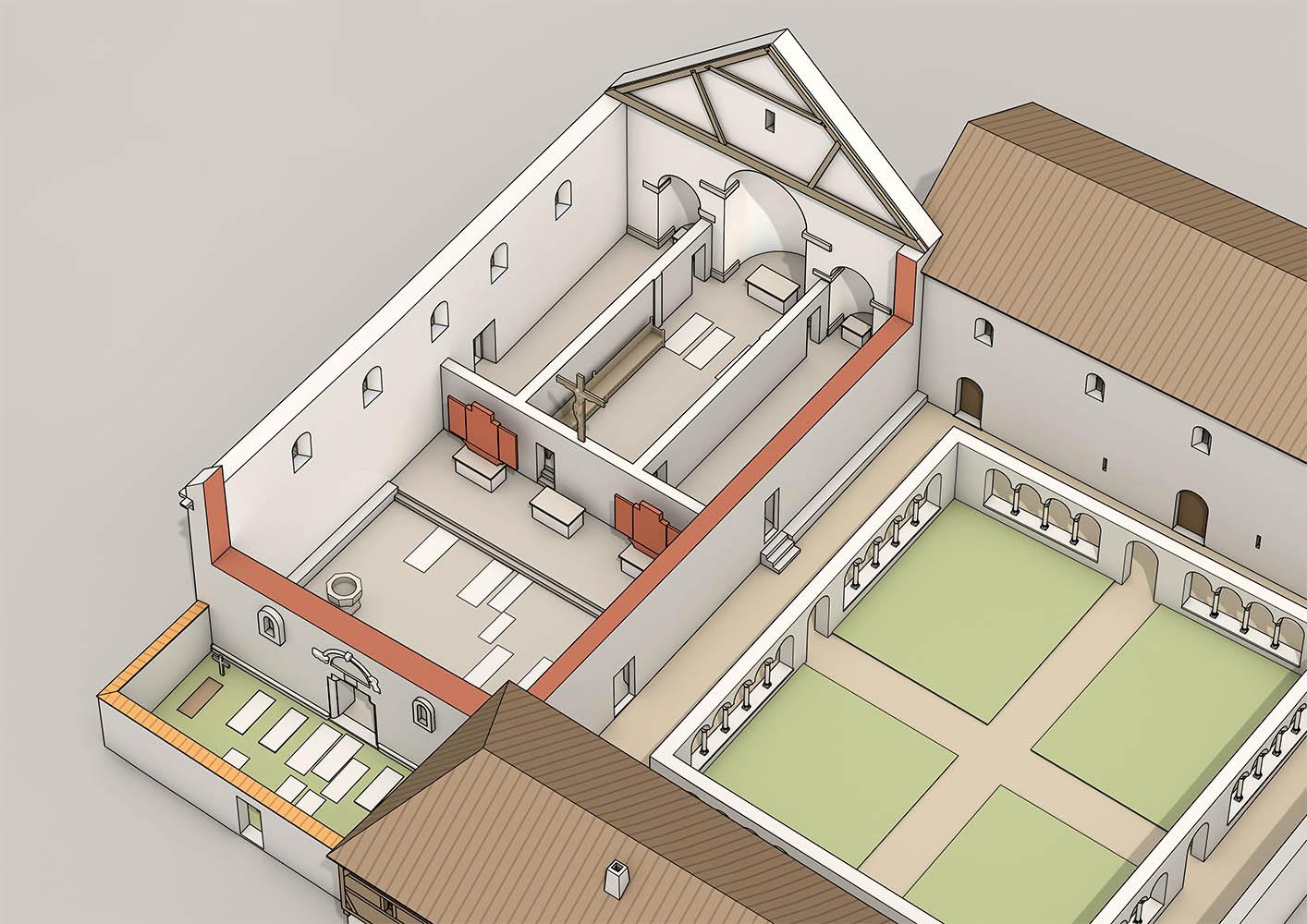 Letzte Ausbauphase des Klosterkirche Schöntal