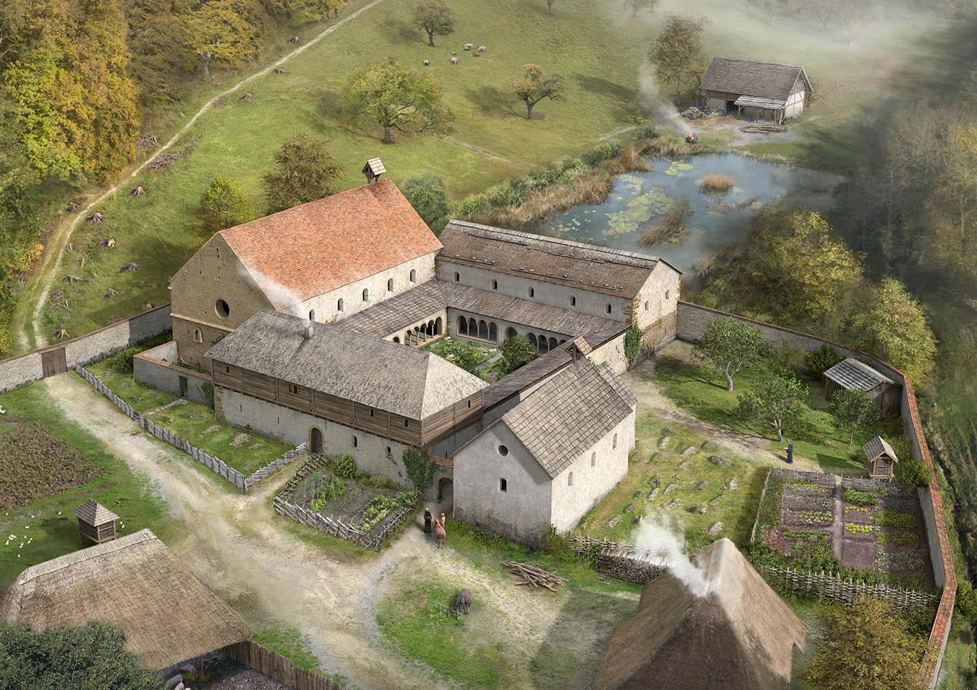 Rekonstruktionsversuch Kloster Schöntal im Mittelalter